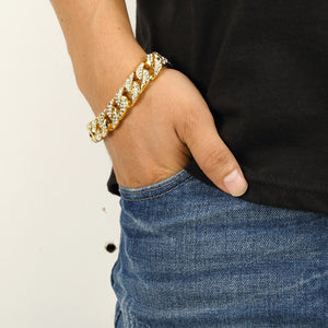 ICED Cuban Bracelet (GOLD & WHITE GOLD COLOR!)
