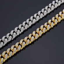 Load image into Gallery viewer, ICED Cuban Bracelet (GOLD & WHITE GOLD COLOR!)