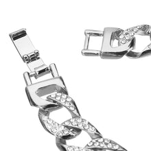 Load image into Gallery viewer, Silver Curb Link Bracelet