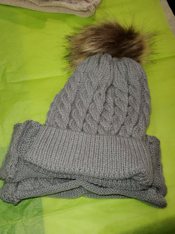 Infant hat & scarf set