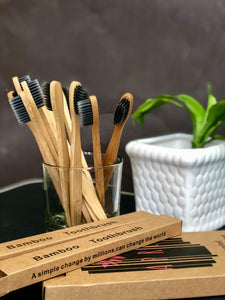 Bamboo Toothbrush x 4 Pack