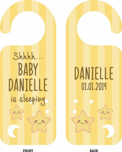 Personalised Baby Door Hanger