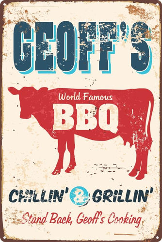 Cow Chillin' & Grillin' Sign