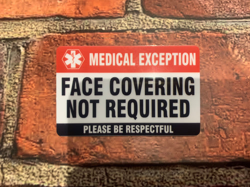 Face Covering Medical Exception Badges