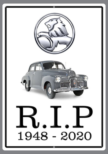 End of an Era R.I.P. Holden 48–215 Sign - Wooptooii