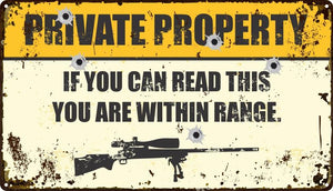 Private Property Sign - Wooptooii