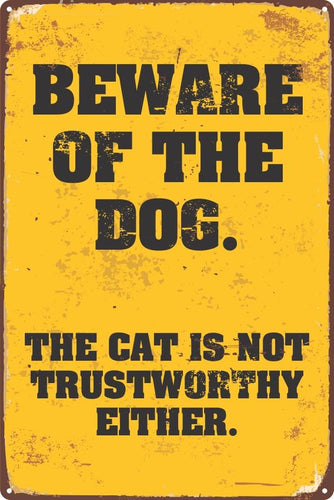 Beware of the Dog Sign - Wooptooii