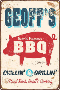 Chillin' & Grillin' Sign - Wooptooii