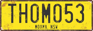 Display Plates - Number Plate Style - Wooptooii