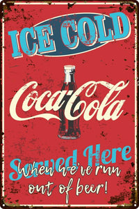 Ice Cold Coca Cola Sign - Wooptooii