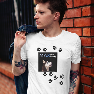 Camiseta Unisex - Huellas Max The Husky