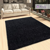 Anthracite Shaggy Rug Dark Grey Deep Pile Fluffy Rugs Round Circle Extra Large Small for Living Room Bedroom