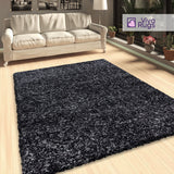 Grey Shaggy Rug Thick Pile Fluffy Carpet Extra Large Small Living Room Bedroom Long Pile Carpet
