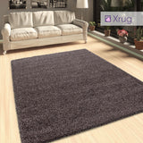 Taupe Brown Shaggy Rug Extra Large Small Fluffy Carpet Living Room Bedroom Deep Pile Mat