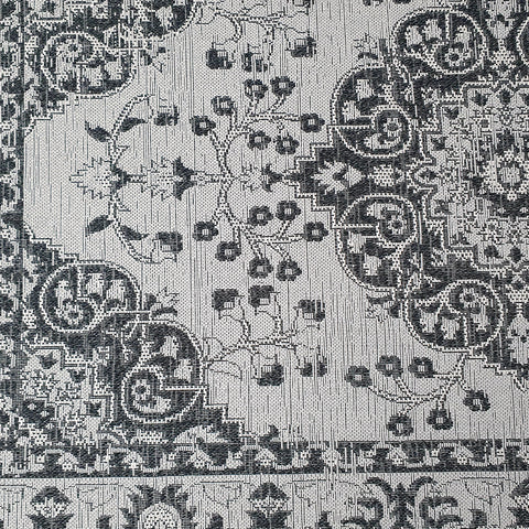 Grey Black Oriental Rug Natural Cotton Flat Woven Carpet Living Room Bedroom Mat