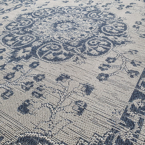 Grey Oriental Rug Navy Blue Vintage Pattern Washable Rug Runner Large Small Mat