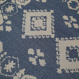 Cotton Rug Blue Navy Grey Moroccan Pattern Large Small Runner Flat Weave Mat