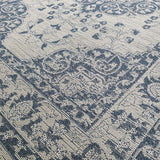 Oriental Rug Vintage Blue Grey Patterned Machine Washable Carpet Large Small Runner
