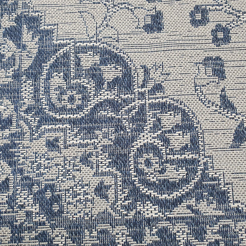 Cotton Rug Grey Navy Blue Oriental Traditional Vintage Pattern Rug Runner Carpet Mat