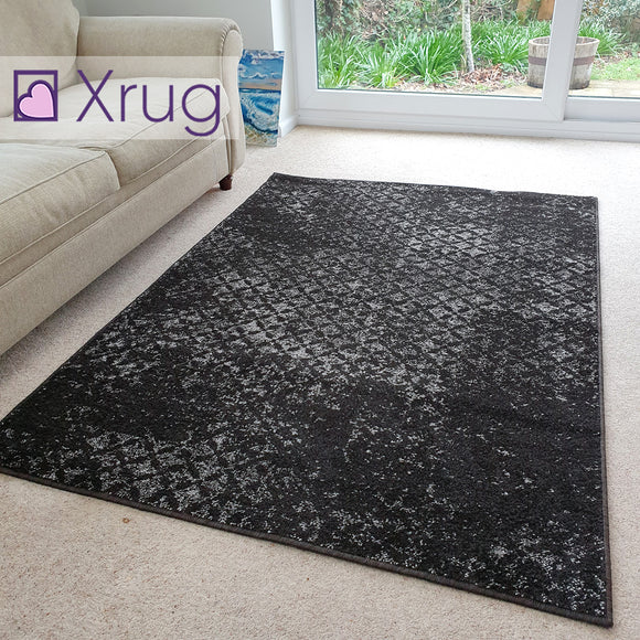 Dark Brown Rugs 120 cm x 170 cm Living Room Chocolate Brown Patterned Rug Carpet