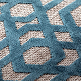 Teal Blue Beige Rug Modern Geometric Trellis Pattern Carpet Jute Look Flat Weave Polypropylene Rug Bedroom Area Mat Small Large Runner Hall Mat Living Room Lounge Woven Contemporary Floor New 120x170cm 160x230cm 80x150cm 66x230cm 66x300cm 160x160cm Round