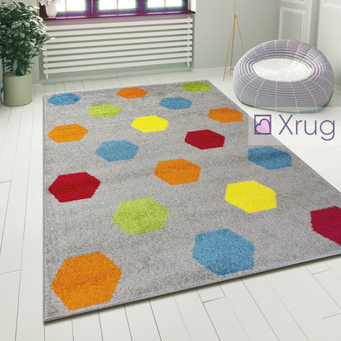Grey Rugs Modern Multi Colour Geometric Pattern Mat Room Area Carpet Small Large