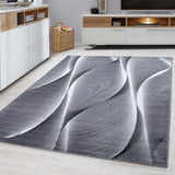 Modern Rug Grey Black Abstract Pattern Bedroom Carpets Small X Large Runner Mat