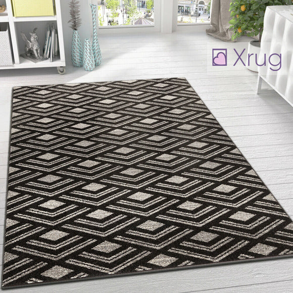 Modern Pattern Rug for Living Room Abstract Dark Brown Carpet Large Floor Mats