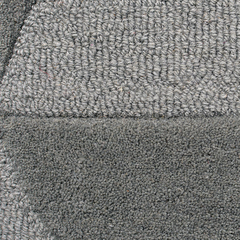 Grey Rug Geometric Plain Circle Pattern Carpet Modern Wool Rug Bedroom Area Mat Small Extra Large Hall Mat Living Room Lounge Woven Short Pile Contemporary Floor New 120x170 160x230 200x290