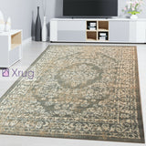 Grey Oriental Rug Small Large Floral Pattern New Mat Low Pile Living Room Carpet