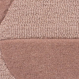 Dusky Pink Rug Geometric Dusty Plain Circle Pattern Carpet Modern Wool Rug Bedroom Area Mat Small Extra Large Hall Mat Living Room Lounge Woven Short Pile Contemporary Floor New 120x170 160x230 200x290