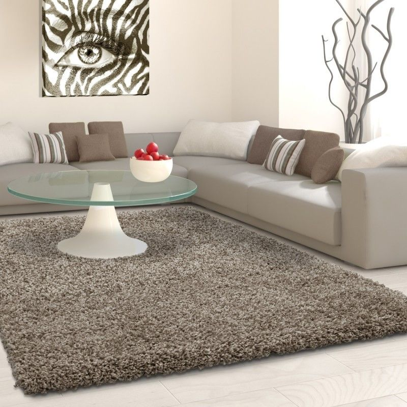 Cool Fluffy Shaggy Rug Grey Beige Plain Long Pile Carpet Small Large Living Room Mats Download Free Architecture Designs Scobabritishbridgeorg