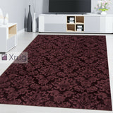 Mauve Purple Rug Damask Stile Floral Oriental Carpet Living Room Bedroom Rug Mat