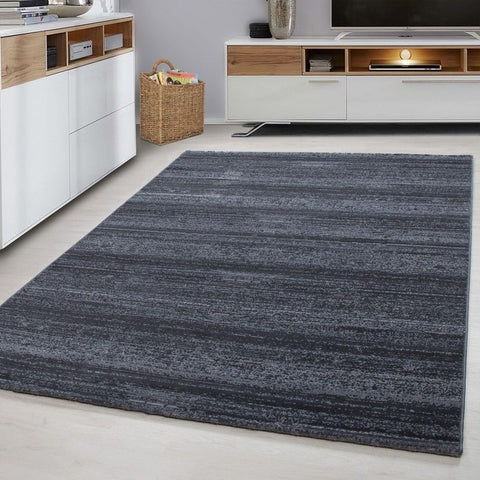 Grey Bedroom Rug Modern Woven Short Pile Mat Dining Room Carpets Small Large XL