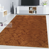 Gold Rug Damask Style Floral Pattern Modern Living Room Bedroom Carpet Mat Sizes