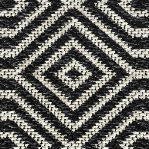 Black Cream Light Grey Rug Modern Geometric Diamond Trellis Pattern Carpet Jute Look Flat Weave Cotton Rug Bedroom Area Small Large Mat Living Room Lounge Woven Contemporary Floor New 192x290cm 114x170cm 153x230cm