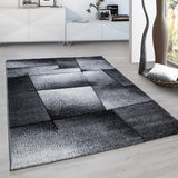 Modern Abstract Rug Grey Geometric Pattern Mat Bedroom Floor Hallway Carpet New