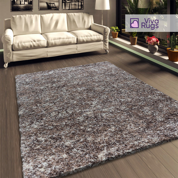 Beige Shaggy Rug Mottled Brown Beige Fluffy Carpet Extra Large Small Living Room Bedroom Carpet Long Pile Thick Pile Mat
