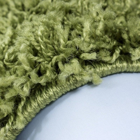 Green Fluffy Rug Large Shaggy Modern Plain Carpet Small Bedroom Round Fluffy Mat