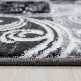 Check Rug Black and Grey Pattern Carpet Small Extra Large Modern Room Runner Mat
