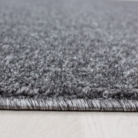 Grey Bedroom Rug Small X Large Plain Woven Carpet Modern Dining Room Hallway Mat