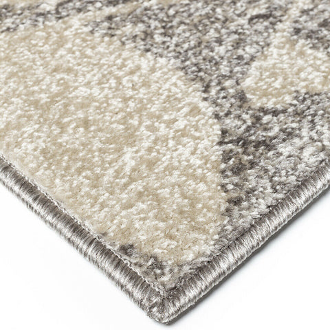 Modern Rug Grey Ivory Nature Pattern Floor Mat Small Large Bedroom Lounge Carpet