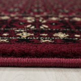 Traditional Rug Red Black Beige Border Design Carpet Oriental Bedroom Lounge Mat