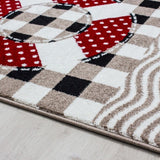 Boys Rugs Beige Red Blue Marine Pattern Kids Carpets Childrens Bedroom Baby Mat