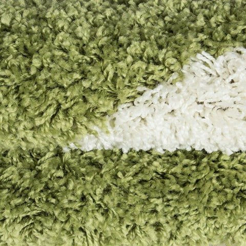 Football Rugs Green White Childrens Play Carpet Kids Bedroom Round Fluffy Mats