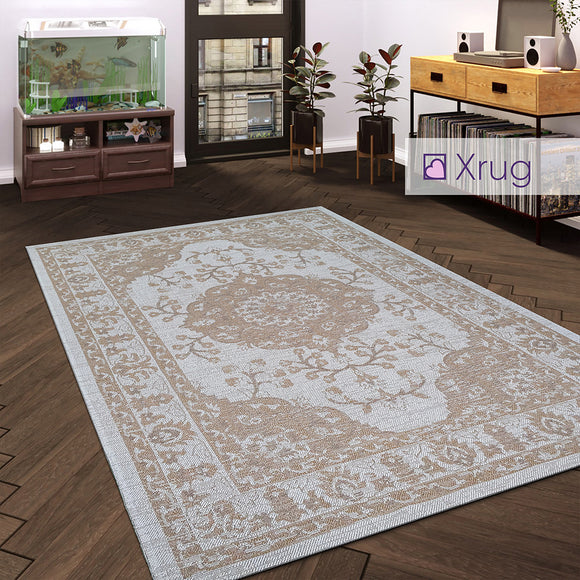 100% Cotton Rug Cream Beige Natural Flatweave Washable Carpet Rug For Living Room Bedroom Runner Mat