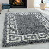 Grey Fluffy Rug Large Small Soft Thick Shaggy for Bedroom Living Room Bedside