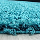 Shaggy Rug Modern Blue High Pile Fluffy Mat Small Large Plain Living Room Carpet