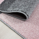 Modern Geometric Rug Pink and Grey Check Design Mat Large Bedroom Lounge Carpets