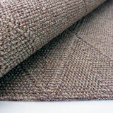 Washable Brown Rug Jute Look Flat Weave Plain Geometric Pattern Carpet Modern Design Bedroom Area Mat Small Extra Large Runner Hall Mat Living Room Lounge Woven Contemporary Floor New Polypropylene 67x100cm 80x150cm 57x230cm 117х167cm 67x300cm 167x233cm